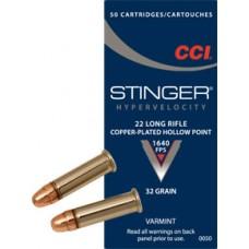 CCI Stinger 22LR Hyper Velocity 32gr Copper-Plated HP