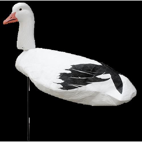 White Rock Upright No Shine Headed Snow Goose Windsock Decoys - Dozen