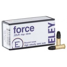 Eley Force High Velocity 22LR 42gr Ammunition