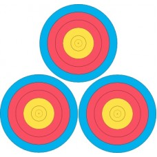 Paper Target 20cm - 3 Spot