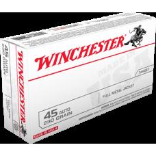 Winchester 45 Auto 230gr FMJ Ammunition