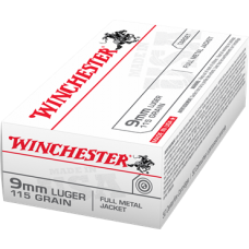 Winchester 9mm Luger 115gr FMJ *500RDS*