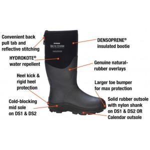 DRYSHOD Arctic Storm -45C Polar Fleece Lined 100% Waterproof Boots - W8
