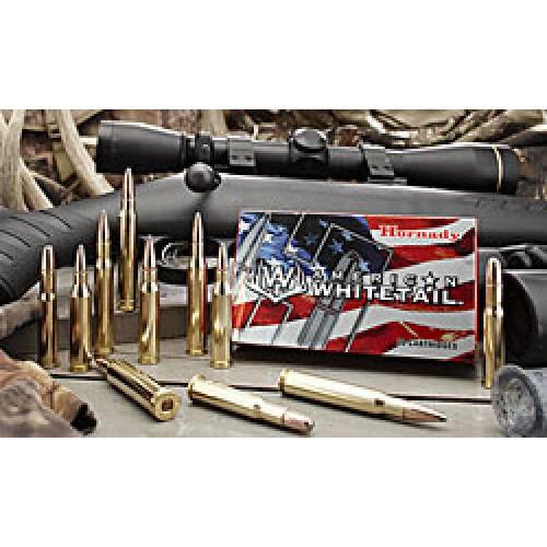 Hornady American Whitetail 6.5CM 129gr Interlock Ammunition