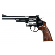 """Smith & Wesson M29 Classic Revolver """"Dirty Harry"""" 44Mag 6.5 Red Ramp Sight w//Hard Wood Case"""