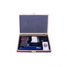 GunMaster Universal 30Piece Cleaning Kit w/Wooden Box