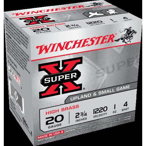 "Winchester Super-X 20ga Upland & Small Game 2 3/4"" #4 Ammunition"